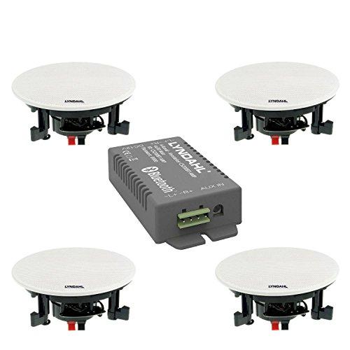Lyndahl CS200BT Conjunto Opcional con 2 o 4 Altavoces Incl. Amplificador Bluetooth,...