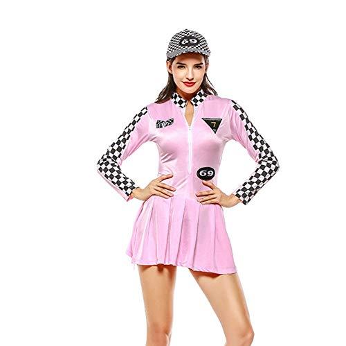 er-Kostüm,Mädchen Team Uniform Set Baseball Bekleidung High School Sport Wettbewerb Dance Game Show,Rosa,Einheitsgröße ()