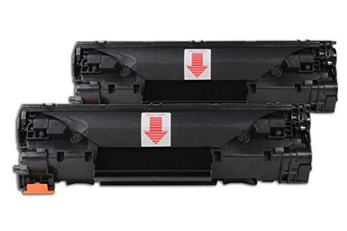 Preisvergleich Produktbild Kompatibel für HP LaserJet M 1522 NF MFP Toner Sparset schwarz - CB436AD - Für ca. 2 x 2.000 Seiten (5% Deckung)