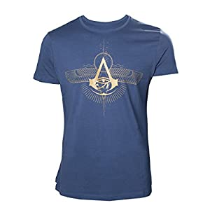 Assassin's Creed Origins T-shirt Golden Crest Men's Blue