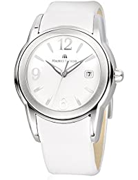 Maurice Lacroix Sphere–SS001with SH1018120Swiss Made ETA Quartz Stainless Steel Strap White Dial White Leather Sapphire Crystal Women's Watch