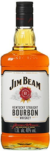 Liter Quellwasser (Jim Beam Weiß Kentucky Straight Bourbon Whiskey (1 x 1.5 l))
