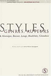 Montaigne, Bossuet, Lesage, Baudelaire, Giraudoux