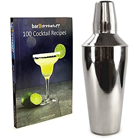 Tuff-Luv Personalised Manhattan Stainless Steel Cocktail Shaker (750ml) Plus Recipe