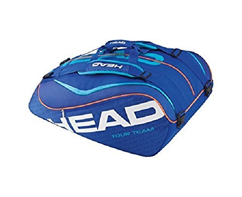 Head Tour Team 12R Monstercombi Tennis Bag - Multi-Colour/Blue/Blue by HEAD