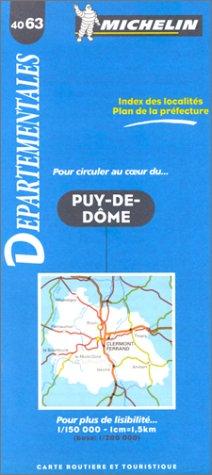 Carte routière : Puy-de-Dôme, 4063, 1/150000