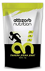 Abbzorb Nutrition Raw plus Whey Protein 80% 26.4g Protein | 5.6g BCAA 30 Servings with Digestive Enzymes (Unflavoured) (1 Kg Refill Pack)