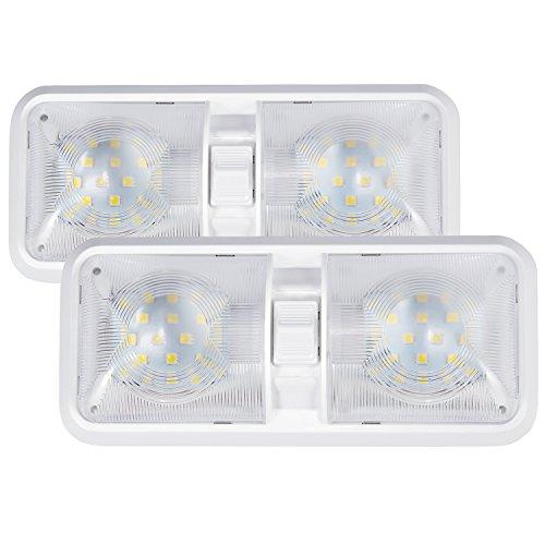 30907b8ed46 Kohree Set di 2 Lampade LED da 12V Plafoniere Tetttuccio Illuminazione  interna per auto   RV