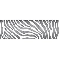 Zebra Stripe–Stencil Riutilizzabile Stencil per pittura–migliore qualità africani Wall Art Décor idee–Utilizzare su pareti, Pavimenti, tessuti, vetro, legno, terracotta, e più... L White