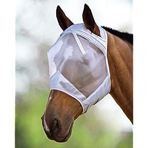 Harrison Howard CareMaster Fliegenmaske UV-Schutz Standard Silber (Warmblut(L))
