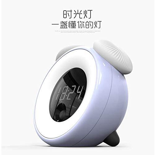 Preisvergleich Produktbild Zeit-Licht-Induktions-Pilzlampe Intelligente Zeitschaltuch-Lampe Energieeinsparender LED-Tenmessermelder Uhr