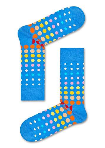 Happy Socks Gemischt farbenfrohe Geschenkbox an Baumwollsocken für Männer und Frauen,Faded Disco Blue,36-40 EU