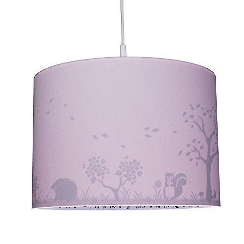 WALDI Kinderzimmer Pendelleuchte mit Rehaufdruck, rosa, E14