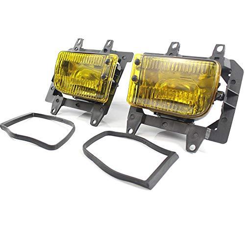 Febelle 2 Luces antiniebla Amarillas de plástico Transparente para Parachoques Delantero para BMW E30 318i 318is 325i 85 – 93