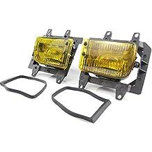 Febelle 2 Luces antiniebla Amarillas de plástico Transparente para Parachoques Delantero para BMW E30 318i 318is