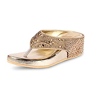 Anand Archies Women's Slippers AA-129 Gold