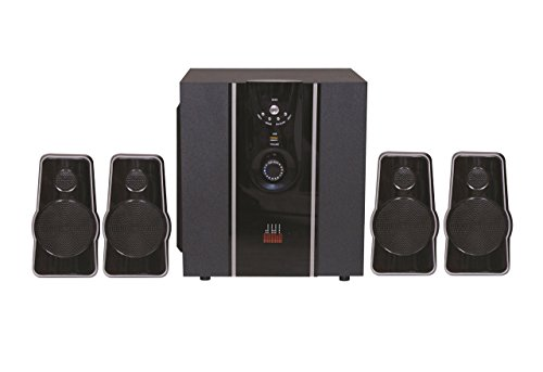 Oshaan L23 4.1 Channel Multimedia Home Theatre System, Bluetooth Connectivity, FM, USB/SD Card Reader, Digital Display, Full Function Remote Control