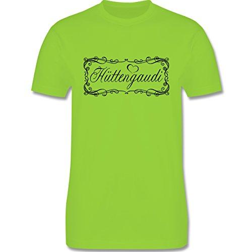 Après Ski - Hüttengaudi Vintage verspielt - Herren Premium T-Shirt Hellgrün