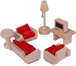 Lakshya Dollhouse Furniture Set Wooden Toy
