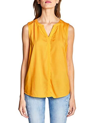 Street One Damen 341476 Bluse, Gelb (Bright Clementine 11804), (Herstellergröße:42)