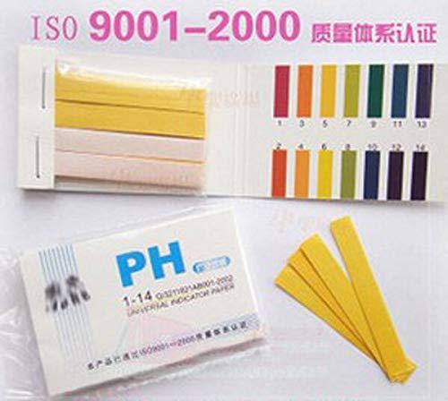 NO LOGO L-Yune, 80 Streifen PH-Messgeräte Indikatorpapier PH Wert 1-14 Lackmus-Test Papier Tester PH Meter Kann Hautpflege Produkt-pH-Test (Farbe : As Shown)