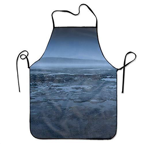best pillow Women Bib Landscape Fog Swamp Kitchen Apron Polyester Art Printing Style Fashion -