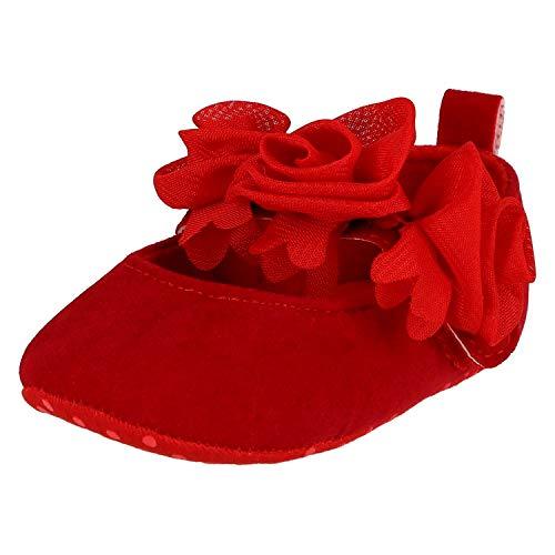 KREXUS Lauflernschuhe für Mädchen Princess Rot Rose Gr. 0-6 Monate XB00808_0 (Die Rote Rose Mädchen)