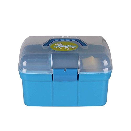 netproshop Kinder Putzbox Putzkiste mit 10 TLG. Inhalt ca. 30x20x19 cm Kunststoff, Farbe:Hellblau