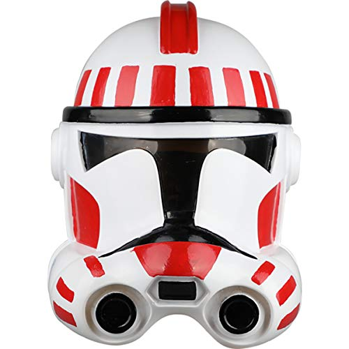 QQWE Star Wars Weißer Soldat Maske Stormtrooper Klon Soldat Helm Halloween Film Cosplay Helm Requisiten PVC ()
