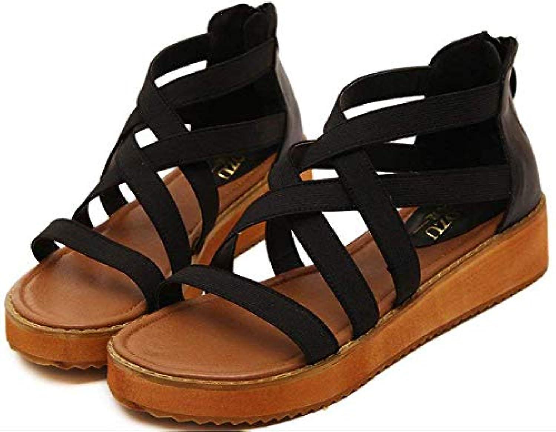 Oudan Mme Romano Les : Sandales. (coloré : Noir, Taille : Les 38) 90e04a