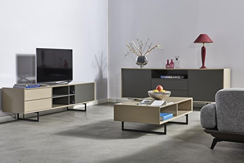 Tv Grau Beige : ➥ tv schrank titran modernes lowboard in taupe beige hochglanz