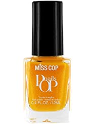 Miss Cop Nagellack Pop Nails Zitrone gefrostet 12ml