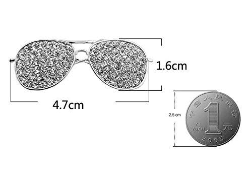 2 Farbe Wahl voller Strass Sonnenbrille Brosche Damen Pins und Brosche Schmuck Broch Schmuck Geschenke