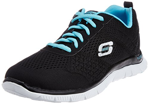 Skechers - Flex Appeal Obvious Choice, Sneakers da donna, nero (bklb), 38