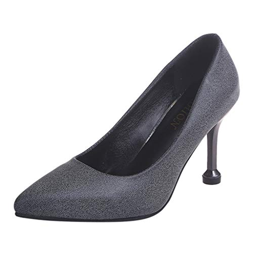 Dragon868 Sandali Donna Scarpe con Tacco Alto Eleganti Sandali Tacco Gattino 8.5cm Scarpe a Punta Glitter Ladies Shoes Formale Cerimonia Estivi 2019 Nero Bianco Oro