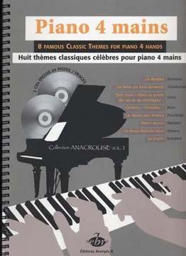 PIANO 4 MAINS  8 THèMES CLASSIQUES  PARTITURAS  CD PARA PIANO DUOS