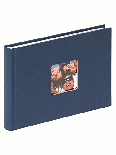 Walther Fun FA-207-L Album portafoto, formato 22x16 cm, 40 pagine bianche, con riquadro per foto, colore: Blu