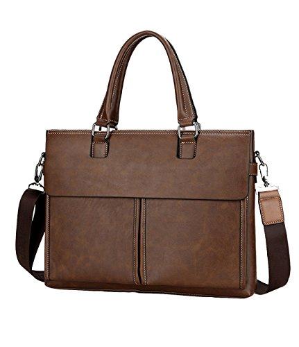 Yy.f Multi-stile Retrò Borsa Informale Casual Moda Business Briefcase Borsa In Pelle Borsa Da Viaggio Classica E Pratica. 3 Colori Brown