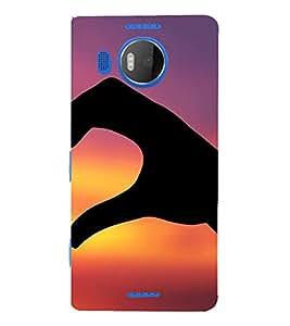 FUSON Hand Love Heart Right 3D Hard Polycarbonate Designer Back Case Cover for Microsoft Lumia 535 :: Microsoft Lumia 535 Dual SIM :: Nokia Lumia 535