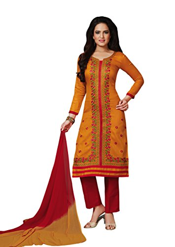 Oomph! Women's Unstitched Salwar Suit/Unstitched Dress Material/Unstitched Salwar Kameez/Embroidered Dress Material/Multicolor Dress...
