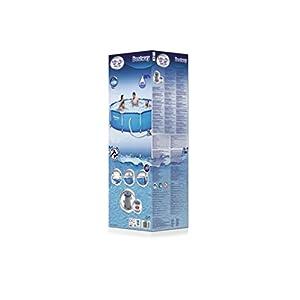 Bestway Bordi Rotonda 4678L Blu Fuori Terra Best Way Piscina Steel PRO Max Cm 305X76, cap 4.678 Lt, Pompa Filtro 58381 1,24 789, 4678 Litri, 305 x 76 cm