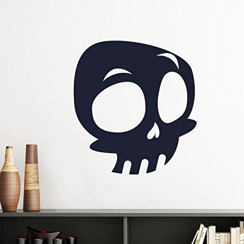 DIYthinker Halloween Big Eyed Skelett Silhouette Wandaufkleber Kunst-Abziehbilder Wand-DIY Tapete Für Zimmer Aufkleber Removable 50Cm Rosa (Skelett Halloween Silhouette)