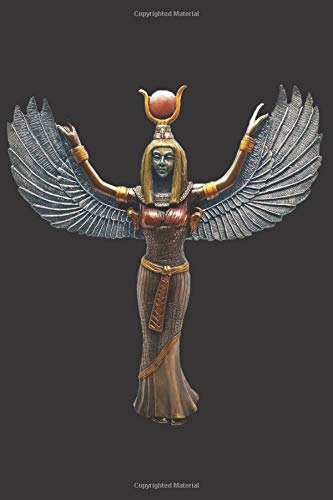 Goddess Isis Statue: Blank Lined Notebook, Journal or Diary (Pagan Altar-statue)