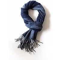 männer - herbst - winter - schal, winter, fischgräten - streifen - haar tassel schal,blau,180