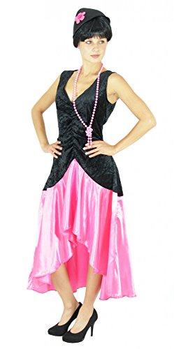 Jahre Gatsby Kostüm Kleid für Damen in pink Gr. S - XXL, Größe:XL (20's Gatsby Kostüm)