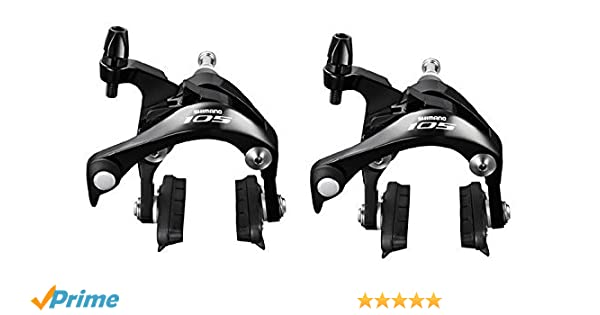 14bfb011322 Shimano 105 BR 5800 FRONT & REAR road bike brake Calipers BLACK:  Amazon.co.uk: Sports & Outdoors
