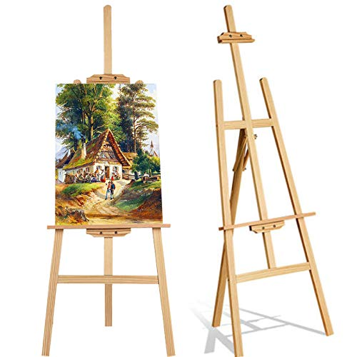 Gemälde-Halter, Kiefernholz, 150 cm hoch, verstellbar, langlebig, Kunst-Künstler, Holz, Staffelei,...