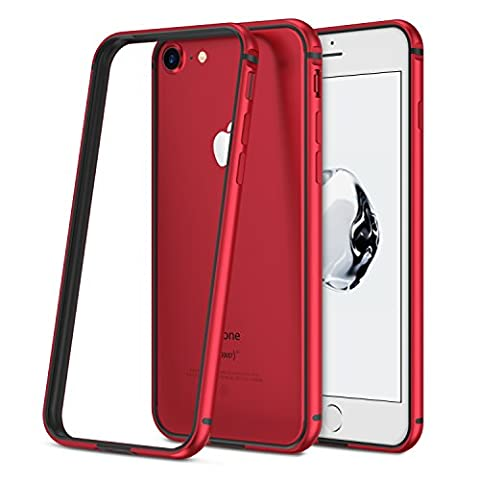 RANVOO [ARMOR] iPhone 7 Case, Aluminum Bumper Case, Red (New Colorway May 2017)