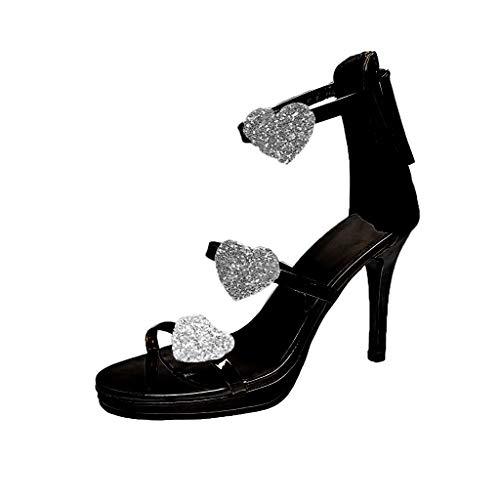 Luckycat Zapatos Tacon Correa Tobillo Mujer Plataforma