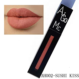 New Fashion Lipstick Cosmetics Women Sexy Lips Matte Lasting Lip Gloss Party Liquid Mingfa Velvet Moisturizer Waterproof Not Stick On Cup Lipgloss Beauty Makeup Long Liner(02#)